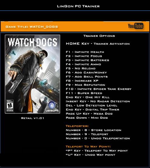читы на игру watch dogs скачать бесплатно
